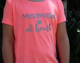 Mermaid at Heart Girls T-shirt
