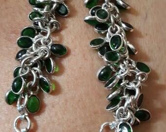 Green Quartz Bracelet - 8.5 inches!