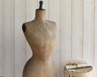 Antique French Mannequin dress form  wasp waist Nordic JDL decor . Shabby.