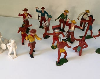 Marx, Marx Holland figures, Rare Marx toys, Marx WOW, Cowboy and Indians, Holland