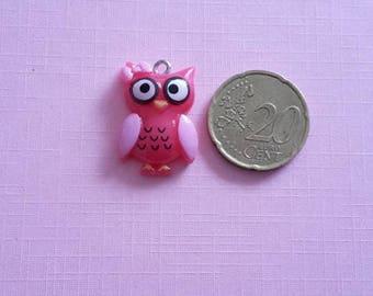 OWL pink OWL charm. Kawaii, anime