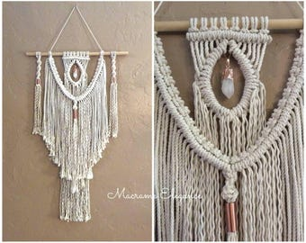 Macrame Wall Hanging Tapestry Woven Wall Hanging Bohemian Wall Tapestry Boho Decor Bohemian Wall Hanging Macrame Hanging Hippie Decor