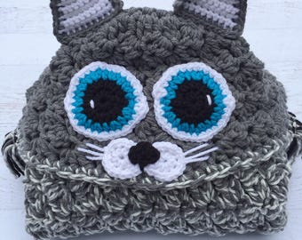 Crochet Hooded Cat Blanket, Pattern designed by MJ's off the Hook Designs.