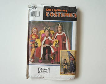 Uncut Simplicity Paper Sewing Pattern 9236 Boys and Girls Medieval Costumes Size A S, M, L
