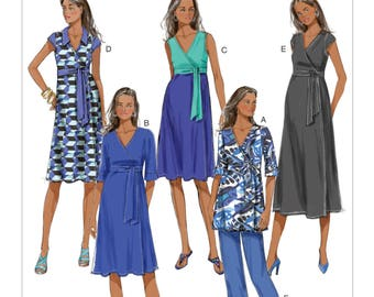 Butterick B5860 Size 8-16 or 16-24 Misses Maternity Dress, Top and Pants Sewing Pattern / Uncut/FF