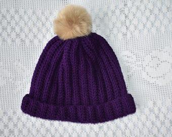 Purple ladies slouch hat