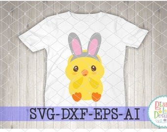 Easter SVG Easter DXF Easter EPS Chick svg easter cutting file boy chick svg boy easter bunny svg chick with bow svg easter svg design
