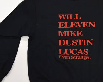 Stranger Things Sweater Crewneck Cast