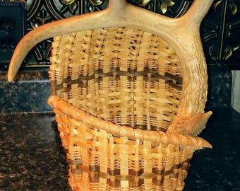 Handmade Antler Basket