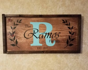 Custom Wood Name Sign, Personalized Wedding Gift,Last Name Sign, Rustic Family Est. Sign, Rustic last name Sign,