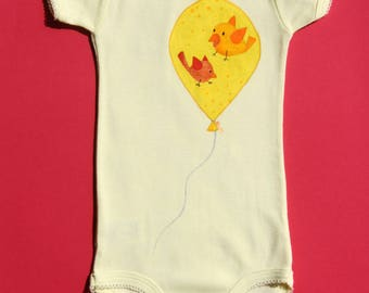 Bodysuit short sleeve yellow size 6 months - OOAK