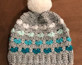 Crocheted Puppy Love Slouch Hat