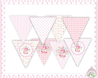 Queen for the Day-Banner & Full Alphabet-Plain and Theme-Party Printable-Birthday-Mothers Day-Bridal Shower-Shabby Chic Parties-Decorations