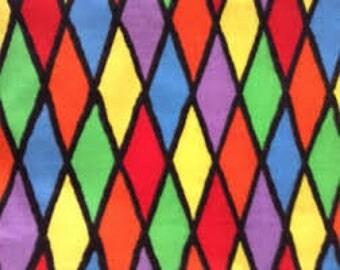 "Rainbow Diamonds fabric - By the half yard - 43-44"" wide - 100% cotton - novelty fabric - cotton fabric"
