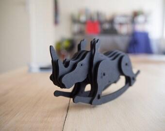 Carlos, the pico-ceros model -  black cardboard 3D puzzle - DIY decoration