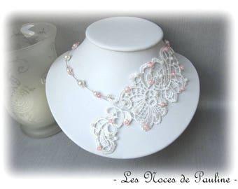 """Ivory rose bridal lace """"Les Textiles"""" Lucille"""