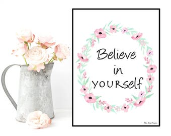 Poster quote, Inspirational quote, Motivational print, Typography quote, Positive quote wall, Black & white, Wall art decor, Printable wall