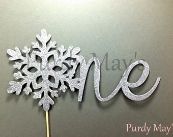 Snowflake One Cake Topper, Snowflake Cake Topper, First Birthday Snowflake Cake Topper, One Cake Topper, Winter Onederland Cake Topper, One
