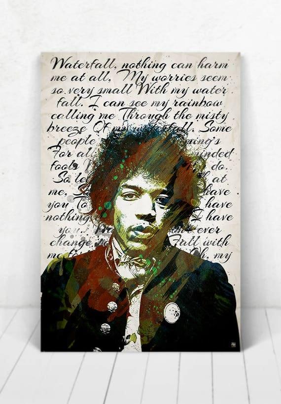 Jimi Hendrix Poster - Digital Painting / Jimi Hendrix Poster / Jimi Hendrix