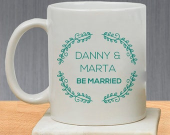 Classical Floral Designed Beautiful Personalized Be Married Mug