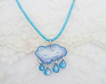 Cloud raindrops pendant jewelry