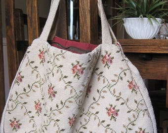 Needlepoint Purse, Needlepoint Bag, Handmade Needlepoint Bag