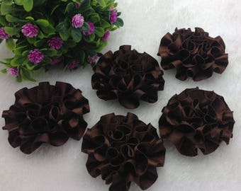 SET OF 5 APPLIQUES FLOWER SATIN DIMENSION 5 CM