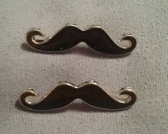 Set of Mustache Pendants / Beads / Charms / Jewelry Making / Funny / Unique / Earrings / Necklace / Bracelet / I mustache you a question...