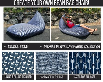 Giant Bean Bag Chair-Dorm Room Furniture-Bean Bag Cover-Adult Bean Bag-Teen/Child Bean Bag-Gaming Lounger-Oversize Bean Bag-Kids Bean Bag