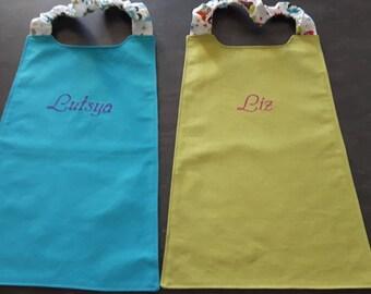 elastic napkin child large model reversible personalized bib