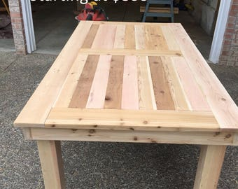 Solid Outdoor Cedar Table