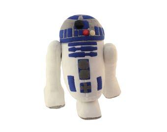 R2D2 Plush Toy Robot Star Wars Droids Skywalker Force Awakens Cute Gift Astromech Memory
