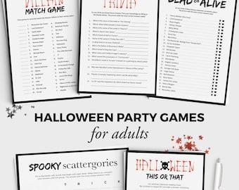 Halloween Game Scary Movie Trivia Fun Halloween Party Game
