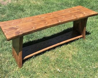 Rustic Pine Foyer Bench