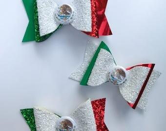 Mexican Flag Bows