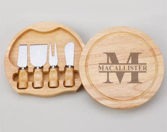 Monogram Style Gourmet 5pc. Cheese Board Set  - JM4989968-E