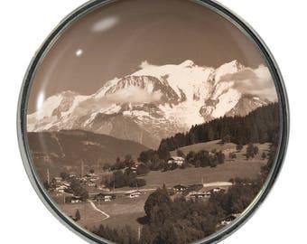 Monte Blanc Image on Metal Fridge Magnet