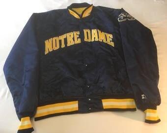 Notre Dame Vintage Starter Jacket