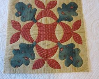 Quilt Block from c. 1850 Baltimore Album Quilt