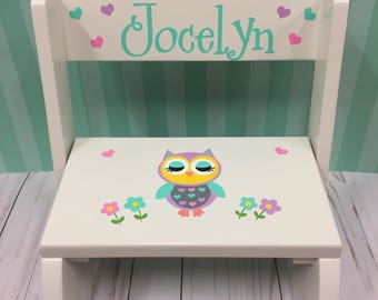 Personalized Step Stool - Childrenu0027s Personalized Flip Stool- Childu0027s Personalized Bench- Personalized Owl Childrenu0027s & Personalized step stool | Etsy islam-shia.org