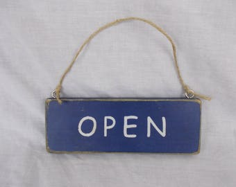 Open / Closed Sign , Rustic Wooden Handmade Sign , Business sign , Cafe Sign , Shop Sign .