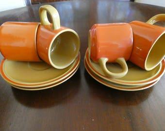 Retro Coffee/Tea Cup & Saucer Set