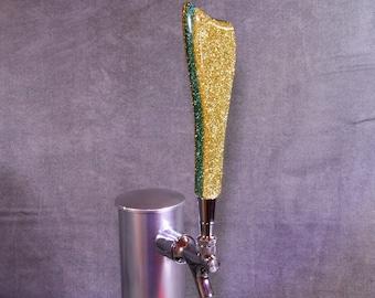 BEER TAP HANDLE Metal Flake, Your Choice of Colors, Beer Keg, Tap Handle, Beer Tap Knob