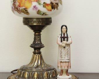 """Vintage 5 3/4"""" Tall Full Figure Ceramic Catholic Saint Kateri Tekakwitha Figurine Statue - 'Sanmyro, Japan'"""