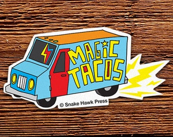 Magic Taco Truck Sticker