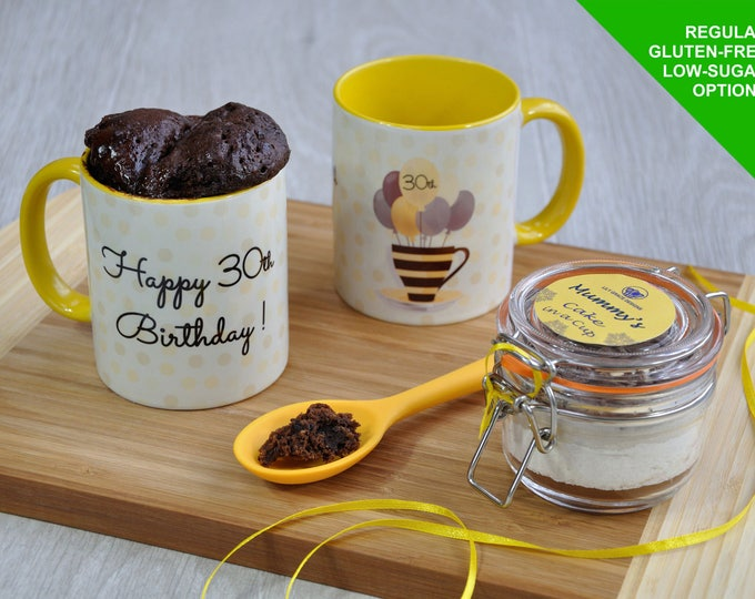 30th birthday gift, 30th present, 30 today, 30th cake, chocolate cake kit, mug cake kit, happy birthday cake, 30 birthday, 30th birthday gif