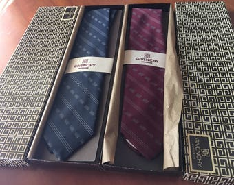 2 Vintage Givenchy Ties