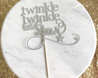 Twinkle twinkle little star cake topper, baby shower cake topper, star cake topper