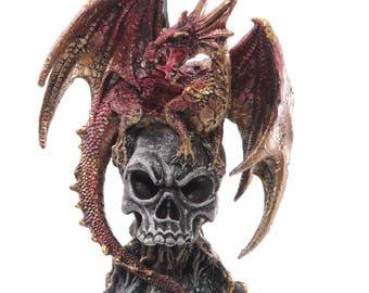 Fire Dragon on Skull (46 inch)