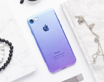 Blue And Purple Clear iPhone Case iPhone 8 Case iPhone 8 Plus Case iPhone 7 Case iPhone 7 Plus Case iPhone 6s Case iPhone 6s Plus Case Clear